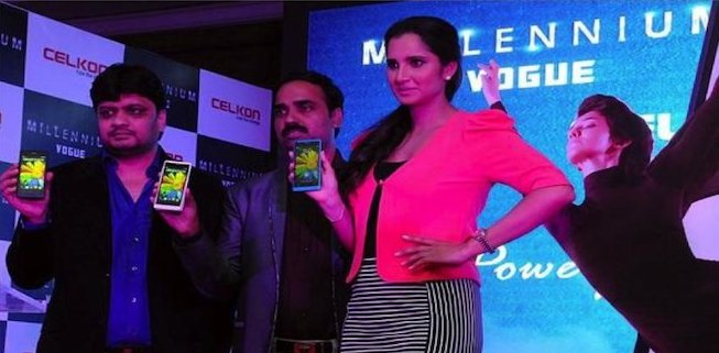 Sania Mirza launched New Mobile Phone of Celkon