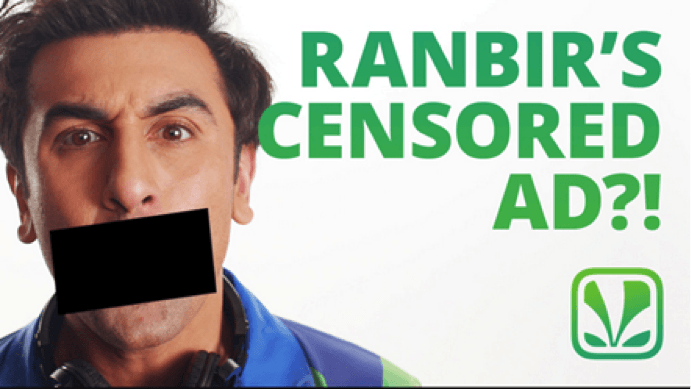 Ranbir's censored ad