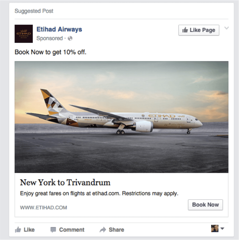 Etihad facebook remarketing